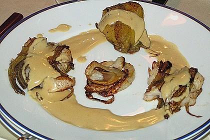 Zander im Kartoffelmantel auf Fenchelgemüse mit Senfsauce 9