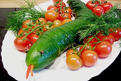 Gurkenschlange im Gemüsebeet 16