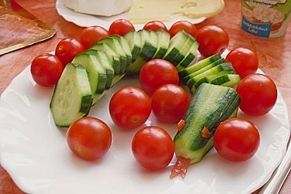 Gurkenschlange im Gemüsebeet 32