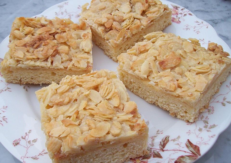 blitzkuchen vom blech mit mandeln