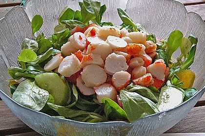 Surimi auf Feldsalat 1
