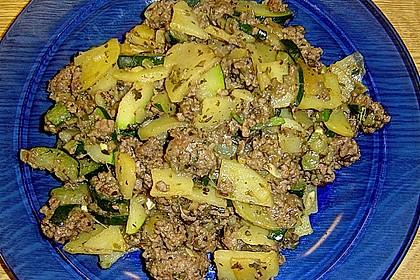 Zucchini - Hackfleisch - Pfanne