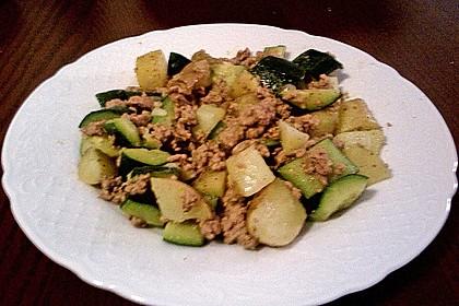 Zucchini - Hackfleisch - Pfanne 1