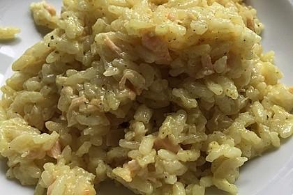 Curry - Risotto mit Kokosmilch, Lachs und Mandarinen 8