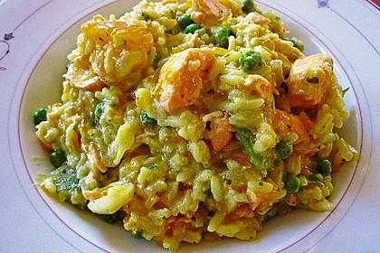 Curry - Risotto mit Kokosmilch, Lachs und Mandarinen 5
