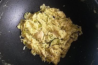Curry - Risotto mit Kokosmilch, Lachs und Mandarinen 10