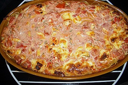 Dieters Linguine mit würziger Camembert - Tomaten - Sauce 17