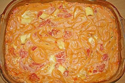 Dieters Linguine mit würziger Camembert - Tomaten - Sauce 21