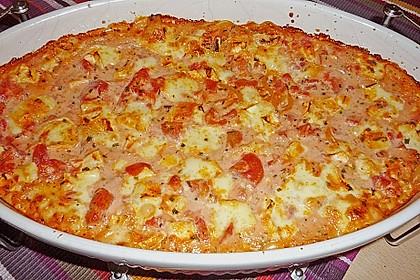 Dieters Linguine mit würziger Camembert - Tomaten - Sauce