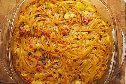 Dieters Linguine mit würziger Camembert - Tomaten - Sauce 8