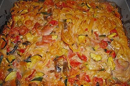 Dieters Linguine mit würziger Camembert - Tomaten - Sauce 11