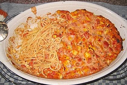 Dieters Linguine mit würziger Camembert - Tomaten - Sauce 13