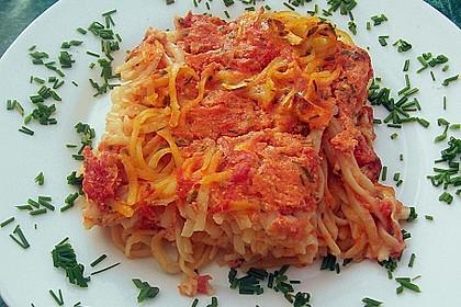 Dieters Linguine mit würziger Camembert - Tomaten - Sauce 12