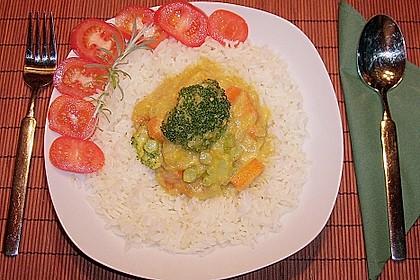 Kürbis - Möhren - Brokkoli - Curry mit Kokosmilch 2