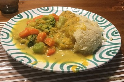 Kürbis - Möhren - Brokkoli - Curry mit Kokosmilch 1