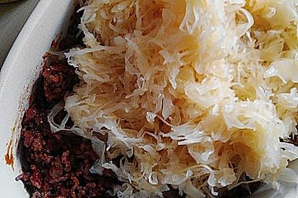 Sauerkraut - Hackfleisch - Auflauf 4