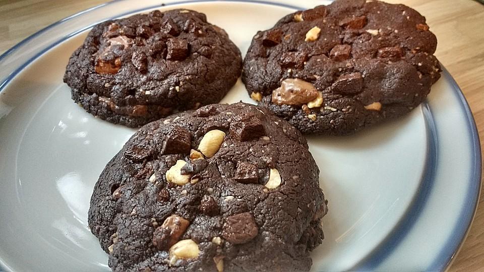 Schoko cookies rezept knusprig