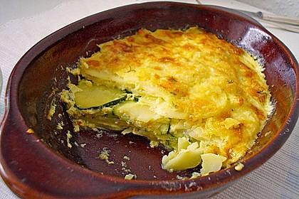 Zucchini - Kartoffel - Auflauf 1