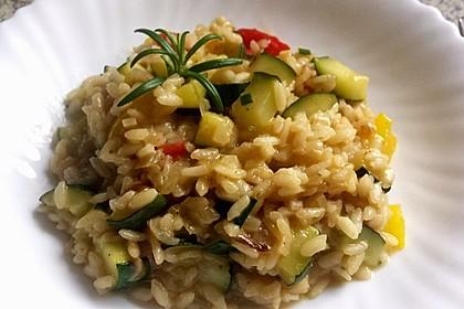 Zucchini - Basilikum - Risotto 5
