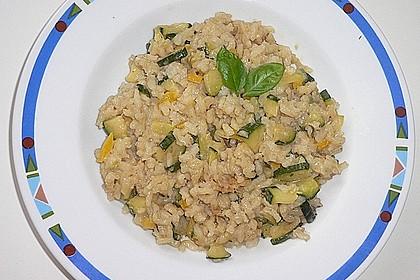 Zucchini - Basilikum - Risotto 9
