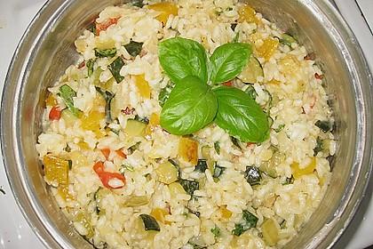 Zucchini - Basilikum - Risotto 7