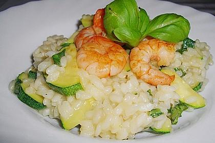 Zucchini - Basilikum - Risotto