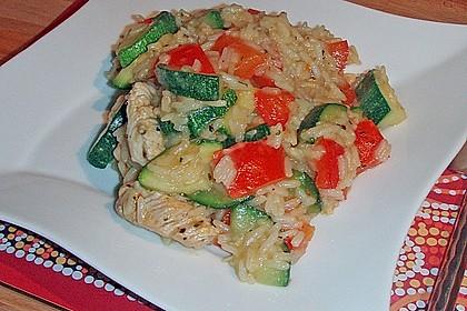 Zucchini - Basilikum - Risotto 10