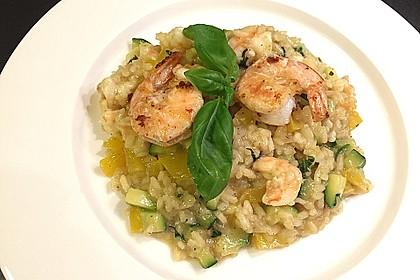 Zucchini - Basilikum - Risotto 1