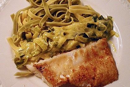 Fischfilet mit Porree - Nudeln 9