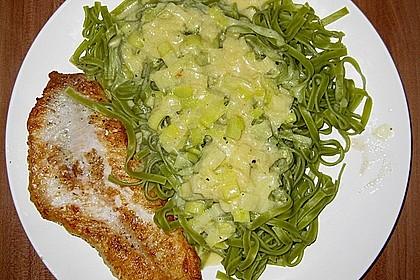 Fischfilet mit Porree - Nudeln 5