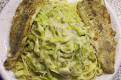 Fischfilet mit Porree - Nudeln 8