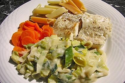 Fischfilet mit Porree - Nudeln 7