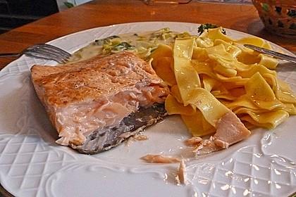 Fischfilet mit Porree - Nudeln 3
