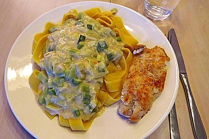 Fischfilet mit Porree - Nudeln 2