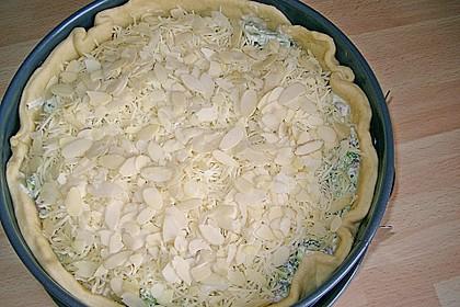 Brokkolitorte mit Mandel - Käsehaube 2