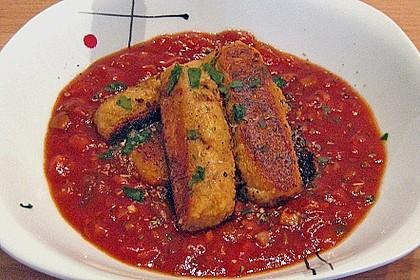 Spanische Ziegenkäse - Kroketten mit Tomatensalsa