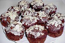 Schoko - Birnen - Muffins mit Mandeln