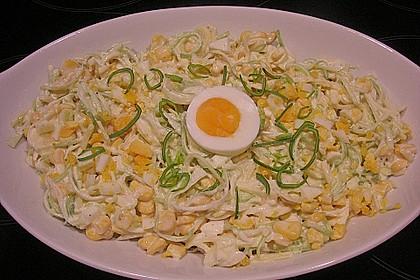Apfel - Porree - Salat
