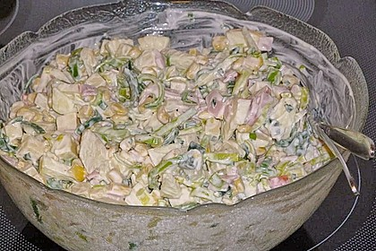 Apfel - Porree - Salat 13