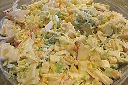 Apfel - Porree - Salat 7
