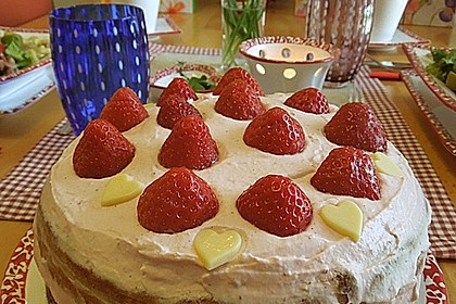 Biskuit - Grundrezept, mit Vanillepudding 34