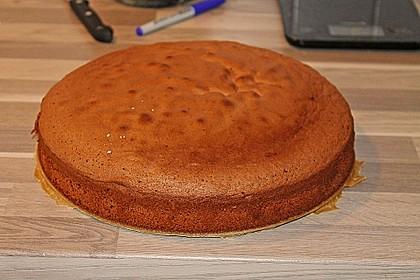 Biskuit - Grundrezept, mit Vanillepudding 18