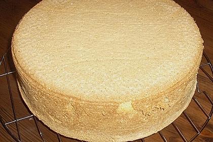 Biskuit - Grundrezept, mit Vanillepudding 2
