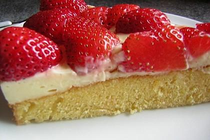 Biskuit - Grundrezept, mit Vanillepudding 23