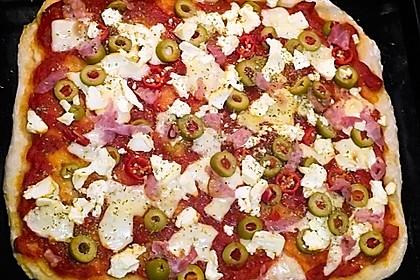 Superknuspriger Pizzateig 10