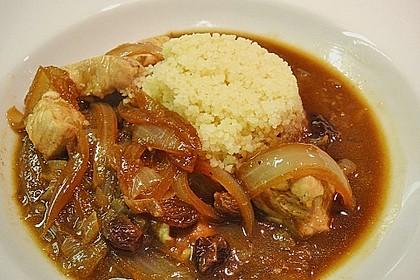 Lamm - Bulgur mit Rosinen - Zwiebeln 2