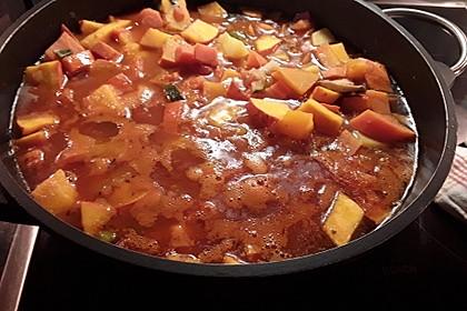Vegetarische Kürbissuppe