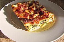 Steinpilz - Lasagne mit Spinat