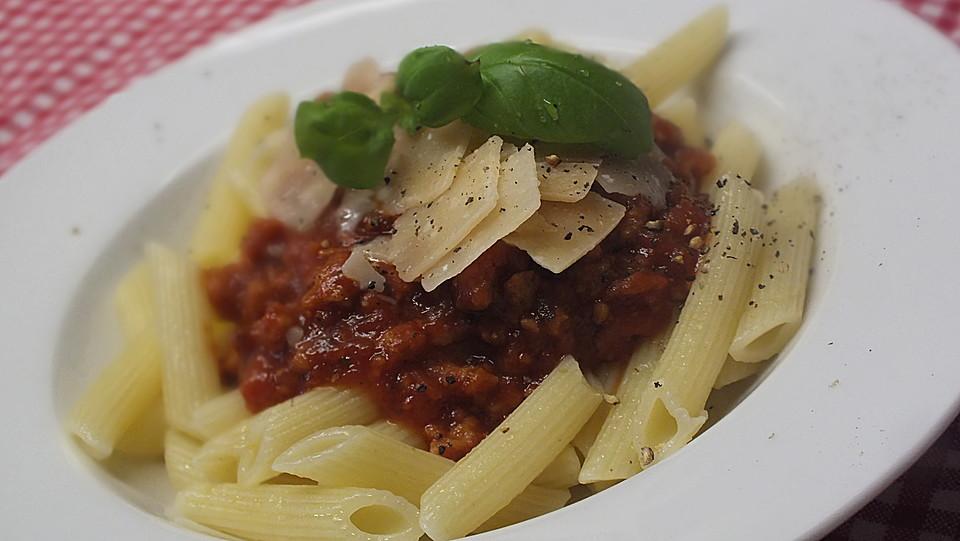 vegetarische spaghetti bolognese von ulmchen. Black Bedroom Furniture Sets. Home Design Ideas