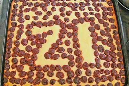 Quarkkuchen vom Blech mit Früchten 9
